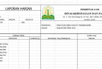 Download Format Laporan Harian Proyek Xls